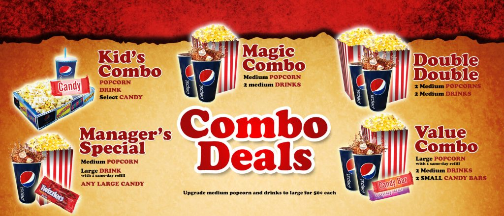 Rainbow Cinemas Concession Menuboard